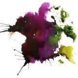 Ljus målad vattenfärgtextur Arkivbilder