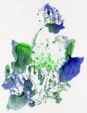 Ljus målad vattenfärgtextur Royaltyfria Foton