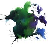 Ljus målad vattenfärgtextur Royaltyfri Fotografi