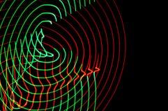 ljus målning Abstrakt begrepp futuristisk färgrik lång exponering, bl Royaltyfri Bild