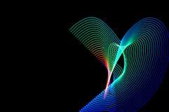 ljus målning Abstrakt begrepp futuristisk färgrik lång exponering, bl Arkivfoto