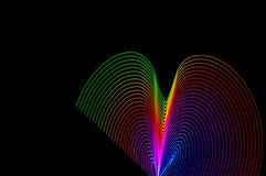 ljus målning Abstrakt begrepp futuristisk färgrik lång exponering, bl Arkivbild