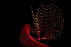 ljus målning Abstrakt begrepp futuristisk färgrik lång exponering, bl Royaltyfri Fotografi