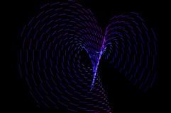 ljus målning Abstrakt begrepp futuristisk färgrik lång exponering, bl Royaltyfria Foton