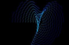 ljus målning Abstrakt begrepp futuristisk färgrik lång exponering, bl Arkivbilder