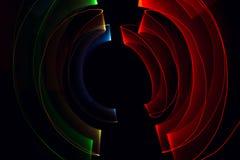 Ljus målningmörkerbakgrund Arkivfoto