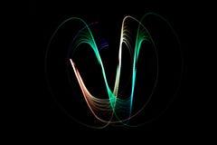 Ljus målningmörkerbakgrund Arkivfoton