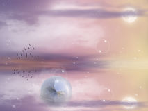 Ljus månebakgrund Royaltyfria Bilder