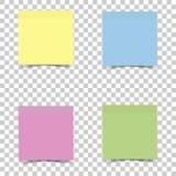 Ljus mångfärgad klistermärke för vektorsymbol för anmärkningar Vektorsticke Royaltyfri Fotografi