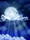 ljus moon Fotografering för Bildbyråer