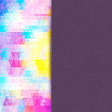 Ljus mosaik för din design med stället för text. Vektor Royaltyfri Foto