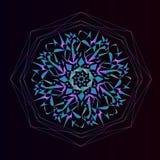 Ljus mosaikbakgrund i en rund form Färgrik abstrakt prydnad Fotografering för Bildbyråer