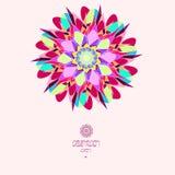 Ljus mosaikbakgrund i en rund form Färgrik abstrakt prydnad Royaltyfri Bild