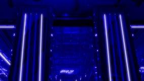 Ljus neongarnering arkivfilmer