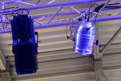 Ljus och en skugga av etappreflektorn Royaltyfria Foton