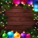 Ljus och färgrik bakgrund för vinterferier Arkivfoto