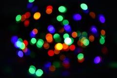 Ljus och festlig atmosfär av kommande ferie abstrakt färgrik bakgrundsbokeh Julpyntbegrepp royaltyfria foton