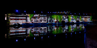Ljus och ljudshow i Strasbourg Royaltyfria Bilder