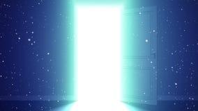 Ljus och partiklar i ett rum stock video