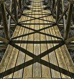 Ljus och skuggor i en bro Royaltyfria Foton