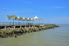 Ljus och solig dag på sydkinesiska havet royaltyfria foton