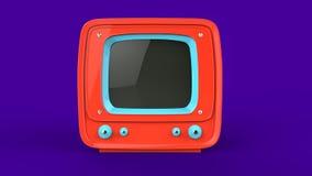 Ljus orange retro TVuppsättning vektor illustrationer