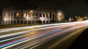 Ljus på Colosseumen royaltyfri foto