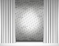 Ljus på den gråa väggen Arkivbilder