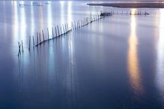 Ljus på den Venedig lagun Royaltyfri Bild