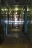 Ljus på slutet av en korridor Arkivbilder