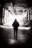 Ljus på slutet av tunnelen Arkivfoto