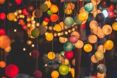 Ljus partibokeh för festival Arkivbilder