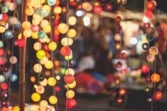 Ljus partibokeh för festival Royaltyfri Bild