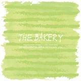 Ljus - pastellfärgad bageribakgrund för grön förälskelse Arkivbild