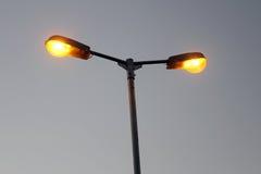 Ljus pol för gata Royaltyfria Bilder