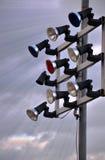Ljus pol för liten stadion royaltyfria bilder