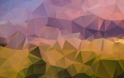 Ljus - polygonal illustration för orange vektor, som består Royaltyfri Foto