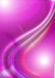 Ljus purpurfärgad bakgrund med glödande flödande kurvor Royaltyfria Foton