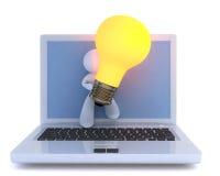 ljus räcka idé över Arkivbild