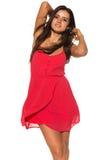Ljus röd klänning Arkivfoton