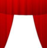 Ljus röd portiere, bakgrund för en design Royaltyfri Bild