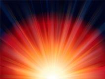 ljus röd solnedgång Arkivbilder