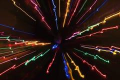 ljus rörelsemodell för blur Arkivbilder