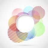 Ljus retro cirkeldesignbeståndsdel vektor illustrationer