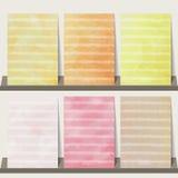Ljus - rosa färg, apelsin, gul vattenfärgsamlingsbakgrund för lodisar Fotografering för Bildbyråer