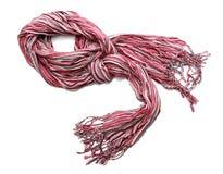 Ljus rosa kvinnligscarf Fotografering för Bildbyråer