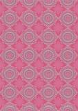 Ljus - rosa ovala openwork modeller på rosa sömlös bakgrund Arkivbild