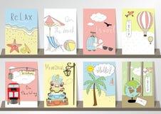 Ljus - rosa samling för blå gräsplan för baner, reklamblad, plakat Royaltyfria Bilder