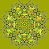 Ljus rund blom- prydnad vektor illustrationer