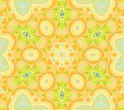 Ljus sömlös blom- modell som är orange och - centrerat grönt stock illustrationer